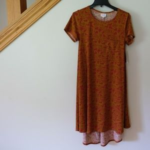 🍁 LuLaRoe Carly Dress XS - Burnt Orange/Maroon